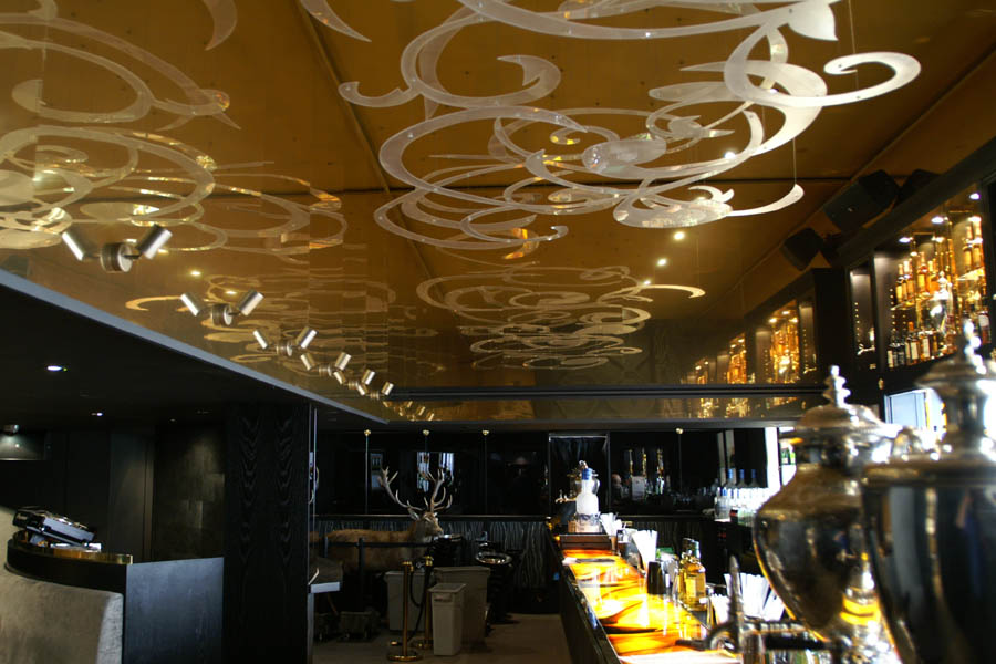 Bar and club wall fascias • deco-line • Brass mirror
