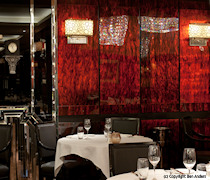 The Savoy Grill wall panelling featuring Marbles Tortoise Shell M1000