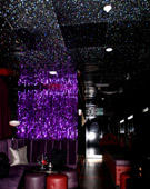 Nightclub ceiling - Black & Silver Glitter G700