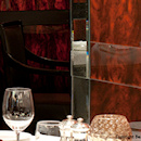 The Savoy Grill featuring wall panelling of Marbles Tortoise Shell M1000