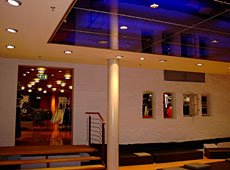 Retail interior - ceiling panels • clear-PEP • Dark Blue
